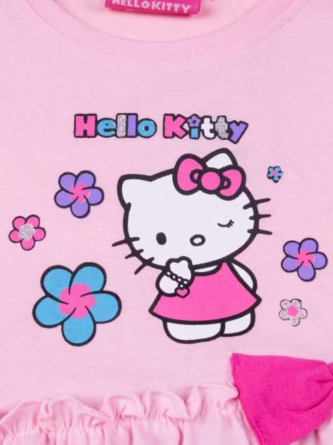 Różowa spódnica dla dziewczynki HELLO KITTY z kokardką                                  zdj.                                  4