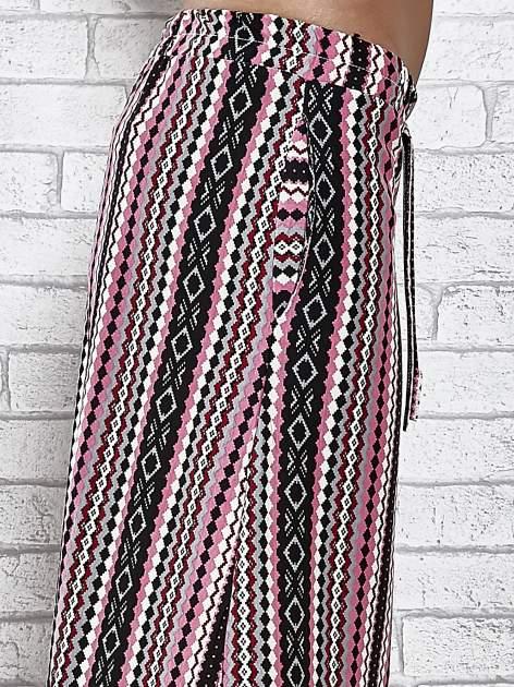Różowa spódnica maxi w azteckie wzory                                  zdj.                                  6