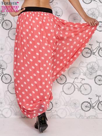 Różowa spódnica maxi w białe grochy                                  zdj.                                  4