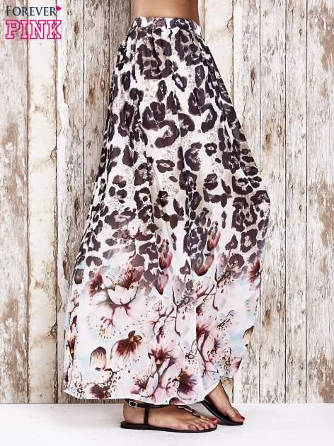 Różowa spódnica maxi we wzór panterkowokwiatowy                                  zdj.                                  2