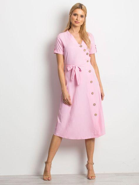 Różowa sukienka Intendend