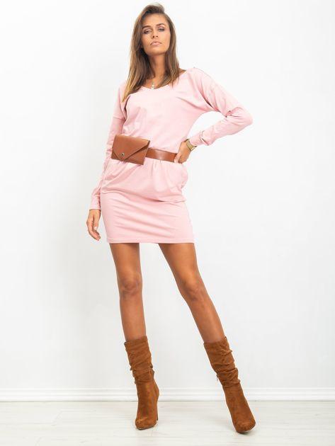 Różowa sukienka Simple                              zdj.                              4