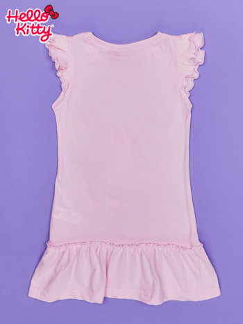 Różowa sukienka dla dziewczynki HELLO KITTY                                  zdj.                                  2