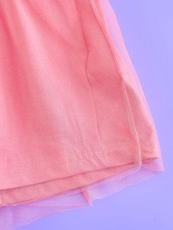 Różowa sukienka dla dziewczynki z tiulowym wykończeniem FROZEN                                  zdj.                                  5