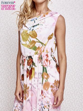 Różowa sukienka maxi w kwiaty                                  zdj.                                  5