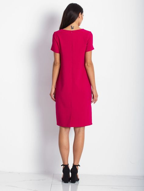 Różowa sukienka z kieszeniami                               zdj.                              3