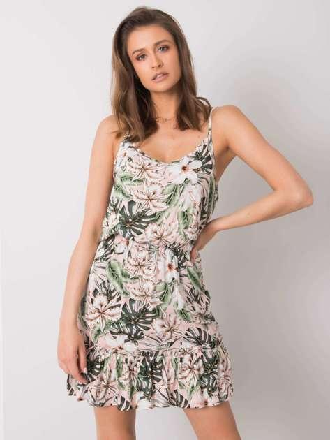 Różowa sukienka z printami Evangeline SUBLEVEL