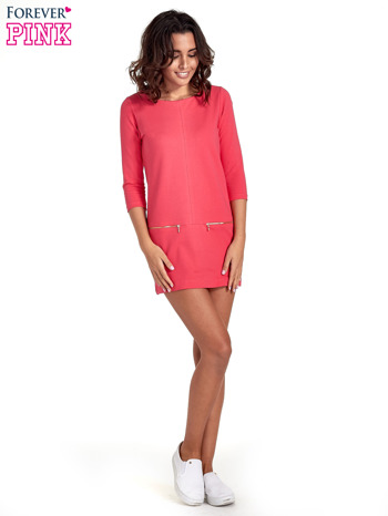Różowa sukienka ze złotymi suwakami                                  zdj.                                  7