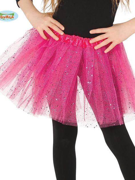 Różowa tiulowa spódnica dla dziewczynki                              zdj.                              1