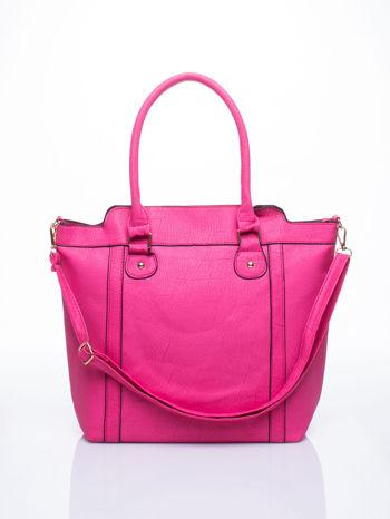 Różowa torba miejska z odpinanym paskiem