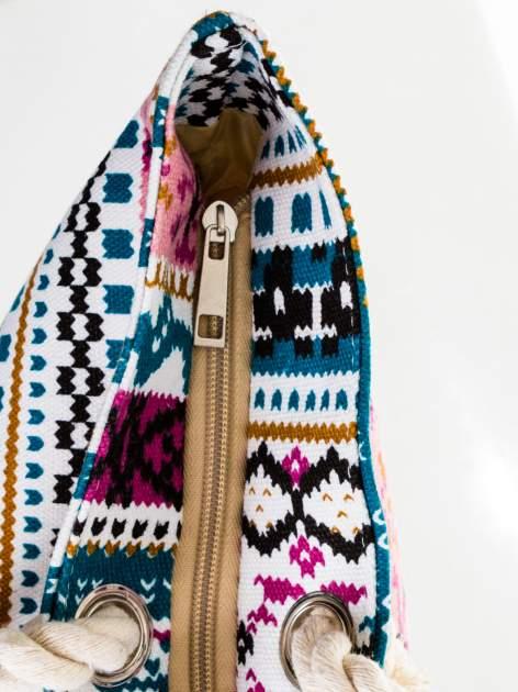 Różowa torba plażowa w azteckie wzory                                  zdj.                                  7
