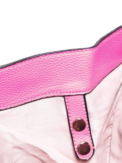 Różowa trapezowa torba miejska                                   zdj.                                  7
