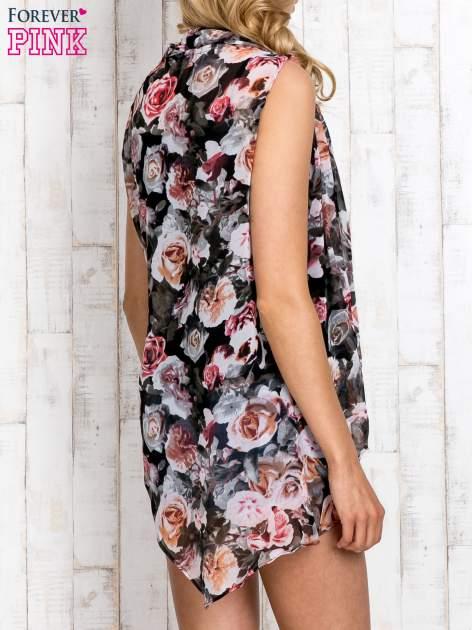 Różowa warstwowa bluzka koszulowa w kwiaty                                  zdj.                                  4