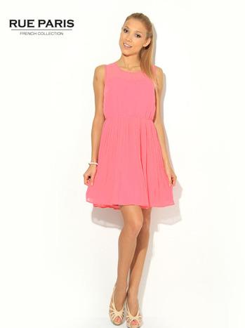 Różowa zwiewna sukienka                                   zdj.                                  1