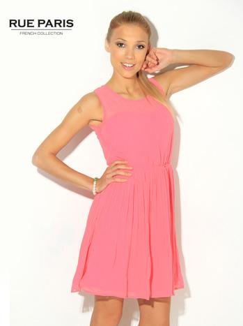 Różowa zwiewna sukienka                                   zdj.                                  2