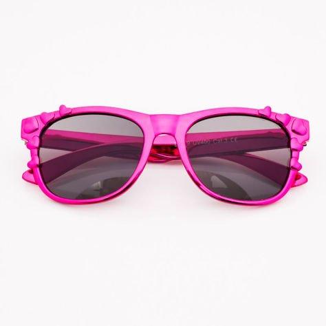 Różowe Dziecięce Okulary przeciwsłoneczne Z Metalicznym Połyskiem                              zdj.                              1