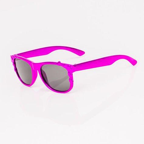 Różowe Dziecięce Okulary przeciwsłoneczne Z Metalicznym Połyskiem                              zdj.                              2