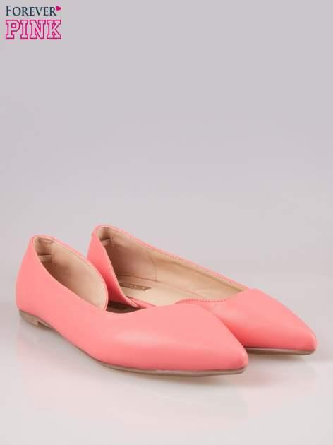 Różowe baleriny faux leather Cookie w szpic z wycięciem z boku                                  zdj.                                  2