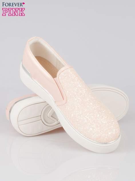 Różowe buty sliponki glitter                                  zdj.                                  4