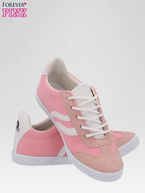Różowe buty sportowe faux leather Cupcake w stylu casual                                  zdj.                                  4