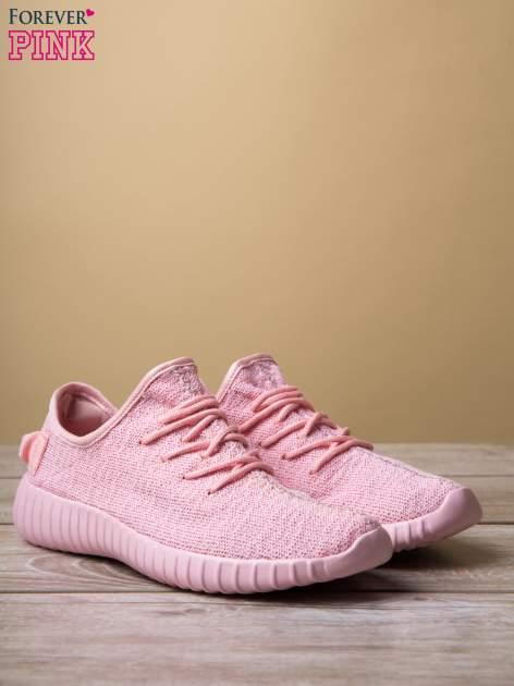 Różowe buty sportowe z tkaniny textile Be Active z uchwytem z tyłu                                  zdj.                                  3