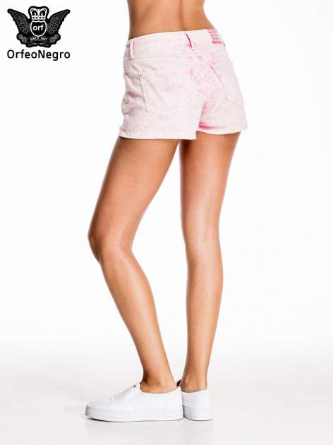 Różowe jeansowe szorty                                  zdj.                                  4