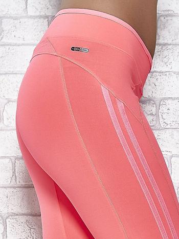 Różowe legginsy 3/4 sportowe termalne z lampasami                                  zdj.                                  5