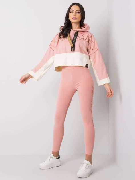 Różowe legginsy Nikki RUE PARIS