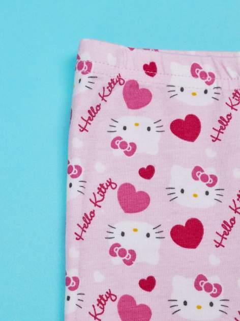 Różowe legginsy dla dziewczynki z nadrukiem HELLO KITTY                                  zdj.                                  3