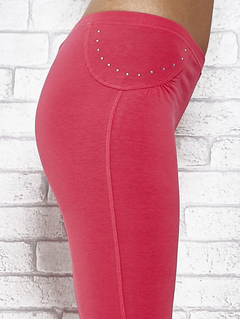 Różowe legginsy sportowe 7/8 z wiązaniem                                  zdj.                                  6