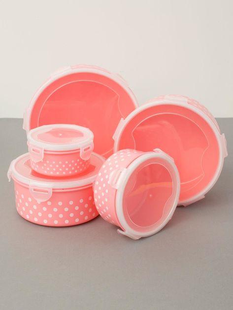 Różowe pojemniki na żywność                              zdj.                              1