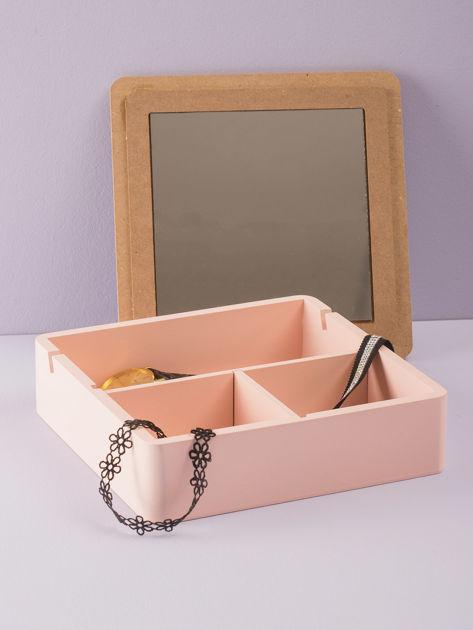 Różowe pudełko z lusterkiem                              zdj.                              1
