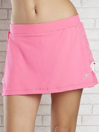 Różowe spodenki spódniczka tenisowa z troczkami na bokach                                  zdj.                                  3
