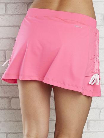 Różowe spodenki spódniczka tenisowa z troczkami na bokach                                  zdj.                                  5