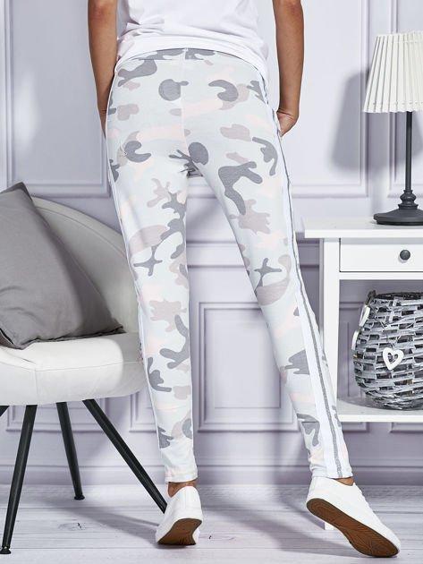 Różowe spodnie dresowe moro                                  zdj.                                  2