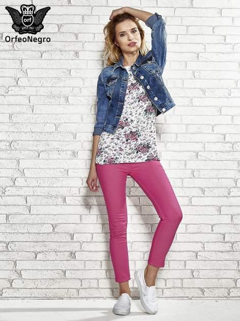 Różowe spodnie rurki skinny                                  zdj.                                  2