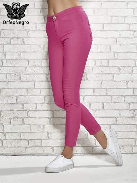 Różowe spodnie rurki skinny                                  zdj.                                  1