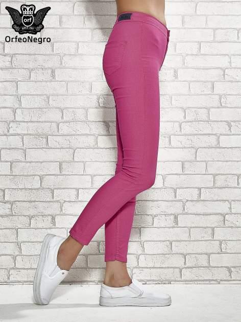 Różowe spodnie rurki skinny                                  zdj.                                  3