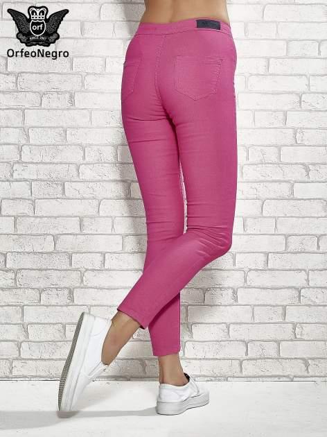 Różowe spodnie rurki skinny                                  zdj.                                  4