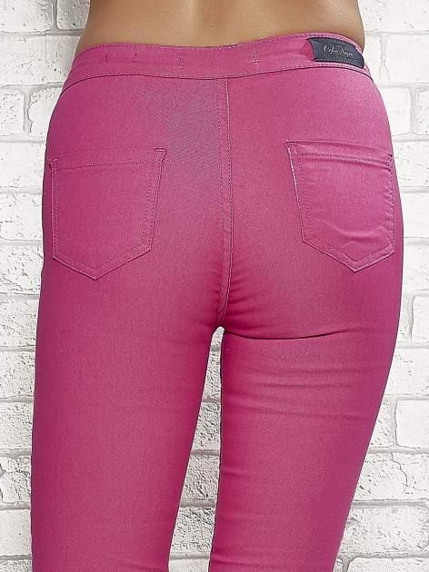 Różowe spodnie rurki skinny                                  zdj.                                  6