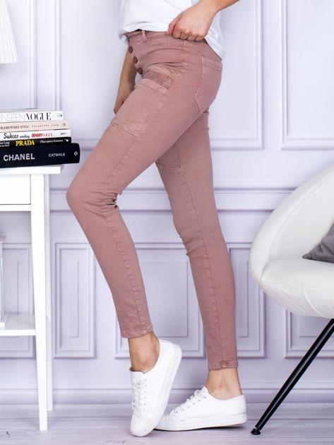 Różowe spodnie z kieszeniami                               zdj.                              3