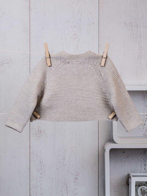 Różowo-beżowy ciepły niemowlęcy 3-częściowy komplet z sukieneczką i sweterkiem dla dziewczynki na co dzień i na specjalne okazje                              zdj.                              7