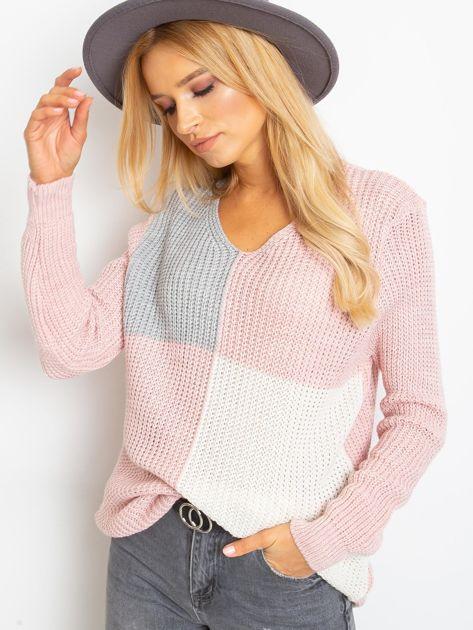 Różowo-szary sweter Latina                              zdj.                              1