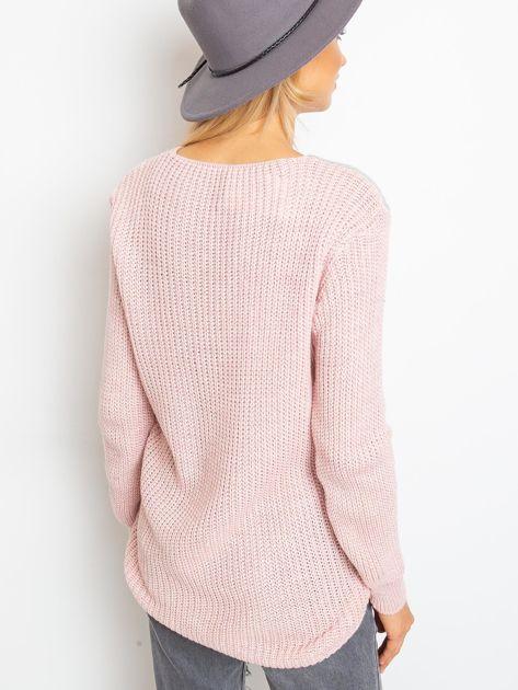 Różowo-szary sweter Latina                              zdj.                              2