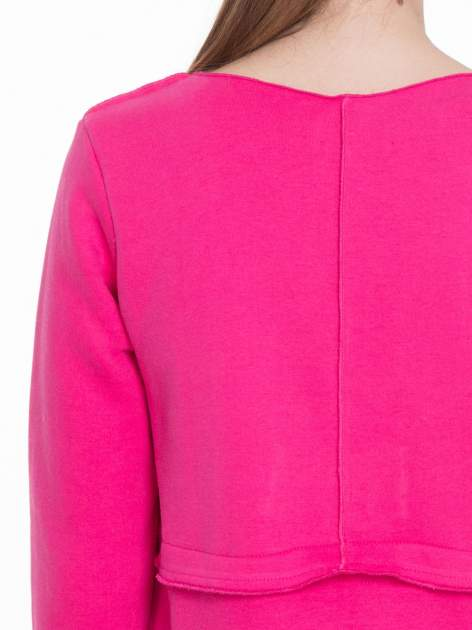 Różowy dresowy bluzopłaszczyk o pudełkowym kroju                                  zdj.                                  8