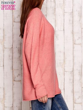 Różowy dzianinowy sweter                                   zdj.                                  3