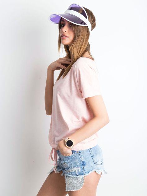 Różowy melanżowy t-shirt Curiosity                              zdj.                              3
