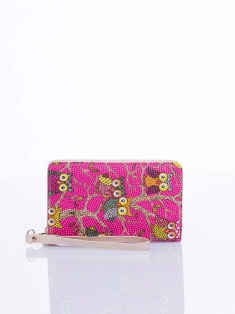 Różowy mini portfel w sówki                                  zdj.                                  1
