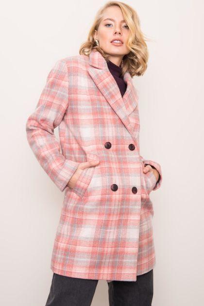 Różowy płaszcz damski BSL