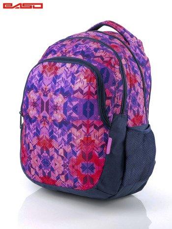 Różowy plecak szkolny dla dziewczynki z etnicznym motywem                              zdj.                              2